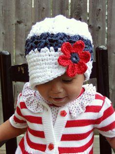 Häkeln Baby Hut Kinder Hut 4. Juli Hut Hut für von JuneBugBeanies
