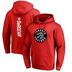 DeMar DeRozan Toronto Raptors Fanatics Branded Stacked Name & Number Pullover Hoodie - Red - Fanatics.com