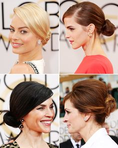Low-Slung Chignons - The Best Fashion and Beauty Trends of the Night - Golden Globes 2014
