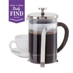 by Oggi 3 Cup French Press Coffee Maker - Daily Find Best Coffee, Coffee Time, French Press Coffee Maker, Keurig, Coffee Beans, Get One, Java, Cravings, Food And Drink
