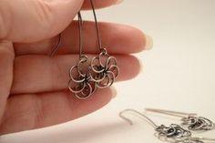 NEW – Free Jewelry Making Tutorial – Wire Flower Earrings