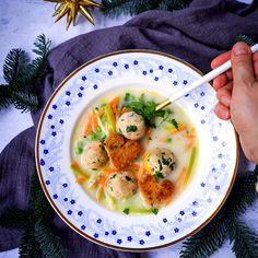 Rybí polévka slososovými knedlíčky Cheeseburger Chowder, Soup, Fish, Ethnic Recipes, Soups, Chowder