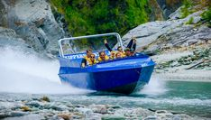 Jet Engine Strapped to Boat - Jetboating in New Zealand! Play On! in 4K!
