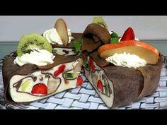 Оригинальный Блинный Торт Мусс с фруктами за 1 час Как приготовить торт мусс Bánh Kếp kem rau câu - YouTube