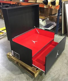 We will build and customize your favorite giant shoe box storage design. Organize your sneaker collection with style, and finesse. For true sneakerheads only.