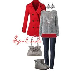 """Rouge grisé"" by symbricole on Polyvore"