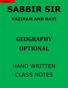 UPSC study material, best quality, cheap price. Hand written class notes… Ias Books, Ias Study Material, Class Notes, Hand Written, Study Materials, Geography, Handwriting, Booklet, Vocabulary