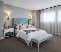 Master bedroom / owner's bedroom in Shane Homes Orion Showhome in Midtown in Airdrie Custom Home Designs, Custom Homes, Home Bedroom, Master Bedroom, Bedrooms, New Home Builders, Investment Property, Master Suite, Living Spaces