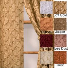 @Overstock - Update you window treatments with this elegant rod pocket curtain panel. Made from 100 percent polyester, the panel features a stunning diamond embroidery pattern, fits up to a two-inch rod, and comes in a variety of colors to match your existing decor.http://www.overstock.com/Home-Garden/Zanzibar-Rod-Pocket-120-inch-Curtain-Panel/4154977/product.html?CID=214117 $41.99