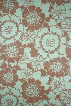Red Brownish Floral Wallpaper