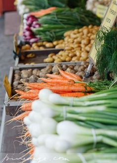 These lovely vegetables end up in the city, but they come from the country !