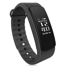 iWOWNFit I3 Smart Band Bracelet Fitness Tracker Heart Rate Monitor Bluetooth Sport Smartband Wristband for Android IOS i3 HR Black * Visit the image link more details.