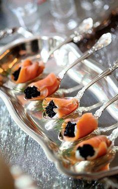 Caviar and salmon
