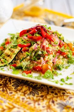 Fire up the grill and try this delish summer salad (gf, vegan).