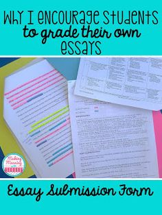 """Save time grading essays with the ideas and tips presented at this blog post. Middle school & high school teachers will enjoy saving time grading papers. Students will be help more accountable and invested in their work. Click through for all the details. {6th, 7th, 8th, 9th, 10th, 11th, and 12th grade classroom or home school} Make students more responsible for their own learning! You can even get a FREE copy of """"Easy Submission Forms"""" by clicking through."""
