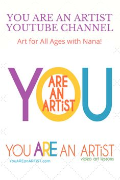It's art for all ages with Nana! Try out several, favorite video lessons and sample the You ARE an Artist Clubhouse. Just add construction paper, a set of chalk pastels and baby wipes for easy clean up. Chalk Pastel Art, Chalk Pastels, Youtube Channel Art, Art Lessons For Kids, Art Curriculum, Art Activities, All Art, Online Art, Construction Paper