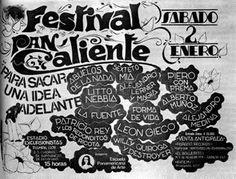 """FESTIVAL """"PAN CALIENTE"""" - ESTADIO CLUB ATLÉTICO EXCUSRIONISTAS [Bajo Belgrano] - SÁBADO 02-01-1982"""