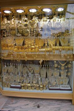 Gold shop at the souk, Tripoli, Libya.   THE LIBYAN Esther Kofod www.estherkofod.com