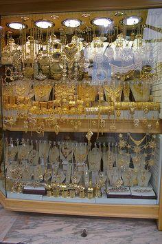 Gold shop, souk, Tripoli, Libya, Northern Africa