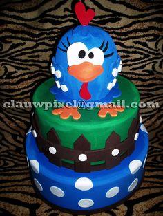 Cake Galinha Pintadinha.