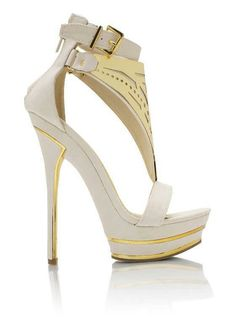 White And Gold Heels | Tsaa Heel