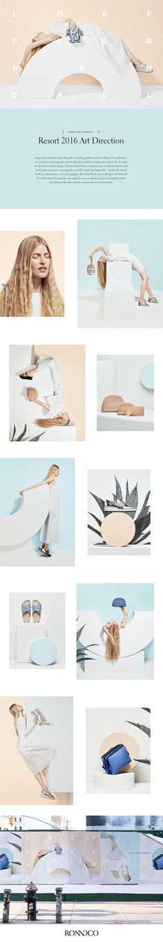 Inspired by founder Jessie Randall's refreshing palette and fresh Resort collection, we created a visual narrative that brings the product's sculptural motifs to life through art direction and set design. Sun-drenched stucco structures are complemente… Webdesign Inspiration, Graphic Design Inspiration, Graphic Design Studio, Fashion Graphic Design, Layout Design, Design Art, Set Design, Web Layout, Product Design