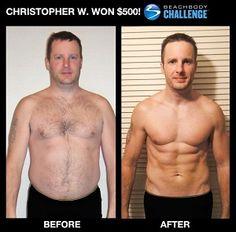 Chris's Beachbody Challenge results