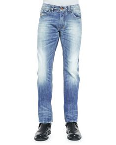 Safado+816P+Faded+Denim+Jeans,+Indigo+by+Diesel+at+Neiman+Marcus.