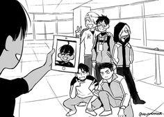 Yuri!!! On Ice (ユーリ!!! On ICE) - Phichit Chulanont (ピチット • チュラノン) - and Viktor, Yuri, Yurio, JJ, and Otabek (^-^;