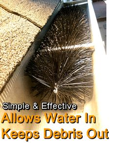 Away with clogged gutter downspouts and clogged gutters. Great for the awning!!