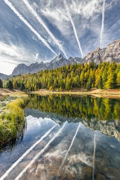 mirror lake  by Ghys cote-nature-photographies. (Hautes Alpes, France)