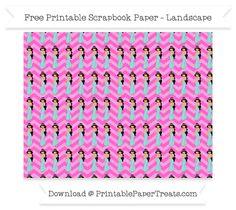 Free Landscape Rose Pink Chevron Large Princess Jasmine Pattern Paper - Aladdin
