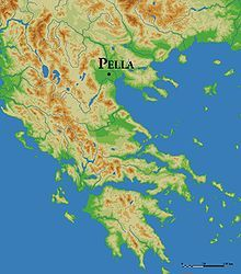 REAL Macedonia - Pella, which was a waterfront town at the time of Alexander the Great, is landlocked today. This drawing, by Marsyas, depicts its location. ancient kingdom of Greece Ancient Greek City, Ancient Rome, Ancient Greece, Battle Of Philippi, Greece Map, Classical Greece, Greek History, Archaeological Discoveries, Early Middle Ages