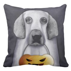 Doggy the Pooh becomes a ghost Pillows by cafelab