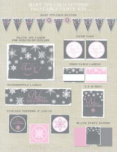 Baby+It's+Cold+Outside+Shower+Printable+by+HappyHeartPrinting,+$20.00
