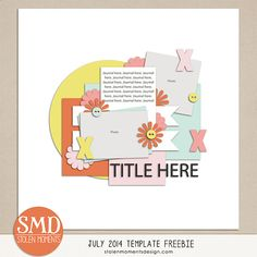 free digital scrapbooking page template