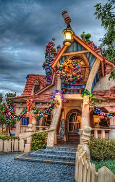 Toontown in Disneyland at Christmas.  Ah, Christmas Disneyland. My absolute favorite!