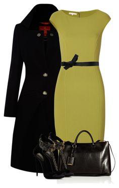 Michale Kors green dress by fashion-766 on Polyvore featuring polyvore fashion style Michael Kors Vivienne Westwood Red Label Jil Sander Lanvin Giuseppe Zanotti