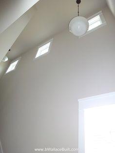 double height ceilings in stairway