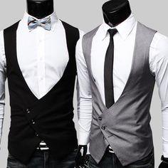Mens formales chaleco alta calidad 2015 negro gris vestido chalecos para hombre Gilet traje Homme vestido de fiesta Formal hombres chaleco(China (Mainland))
