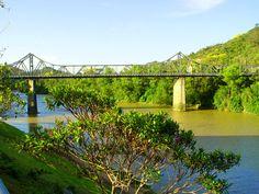 Ponte de Ferro em Blumenau - SC, por @paulaclaun, @allesbraun e @dataprisma.