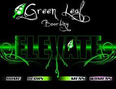 Green Leaf web page design.