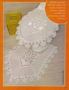 Portal Crocheteiras: Jogo de Banheiro com Gráficos