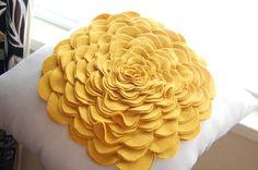 absolutely gorgeous linen & wool felt pillow