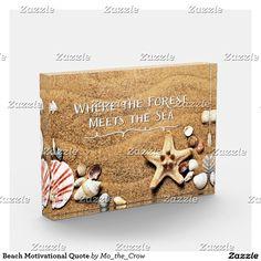 Beach Motivational Quote Award