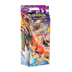 Pokémon TCG: Burning Winds theme deck contains a Talonflame olographic foil card and a complete 60-card deck with counters, deck box, and more.