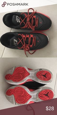 Kids Jordan's Worn couple of times in great condition. Jordan Shoes Sneakers
