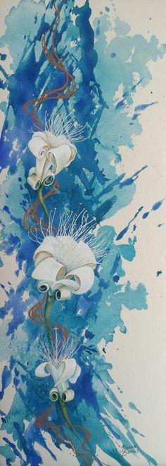 Boab Flowers by Jeanne Barnes. Sold