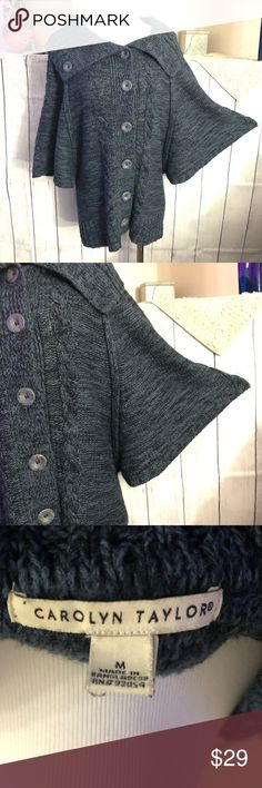 Basic Editions Woman/'s Cardigan Sz small Sweater Green /& Purple NWT 3 Button