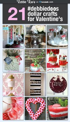 20+ ideas for crafting on a dollar budget for Valentine's day and other seasonal ideas.